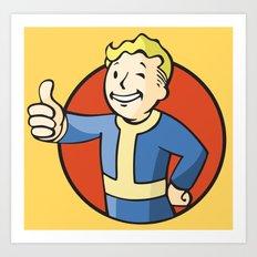Fallout Vault boy Art Print