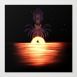 Kraken the Sky Canvas Print