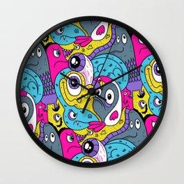 Idiot Bird Pattern Wall Clock