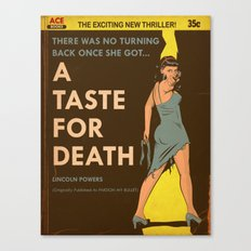 A Taste For Death Canvas Print
