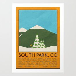 Silver Screen Tourism: SMALL TOWN, CO Art Print