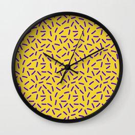 Shiny Yellow Memphis Wall Clock