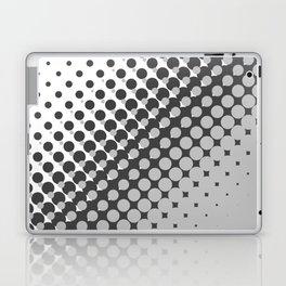 Dark grey and light grey halftone pattern Laptop & iPad Skin