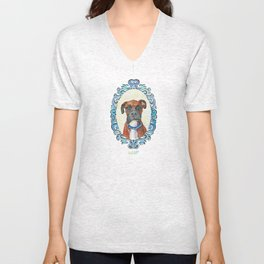 Cooper the Boxer Unisex V-Neck