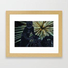 wheelie on the fourth Framed Art Print