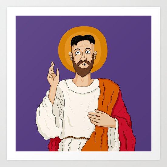 North Korean Jesus Art Print