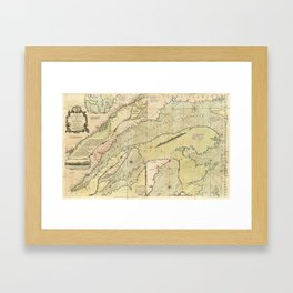 Map of the Saint Lawrence River (1771) Framed Art Print