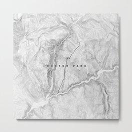 Doctor Park Trail Map Metal Print