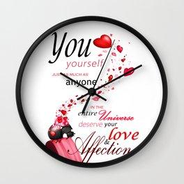 Deserving love Wall Clock