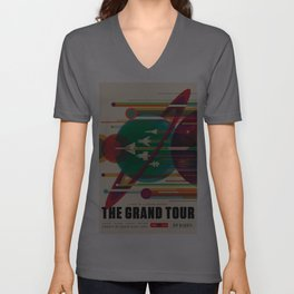 NASA Retro Space Travel Poster The Grand Tour Unisex V-Ausschnitt