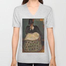Edvard Munch - Inheritance - Digital Remastered Edition Unisex V-Neck