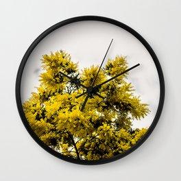 Beautiful Yellow Tree Wall Clock