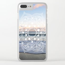 Flower shell mandala - shoreline Clear iPhone Case