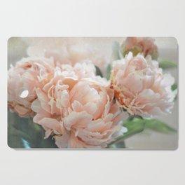 Peach Peonies Cutting Board