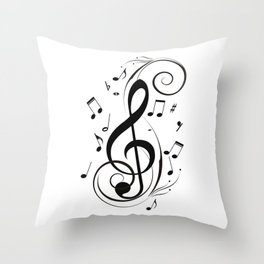 I Got the Music Throw Pillow
