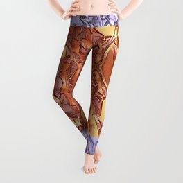 A STUDY OF MADRONA BARK Leggings