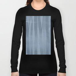 Woodland -  Minimal Blue Birch Forest Long Sleeve T-shirt