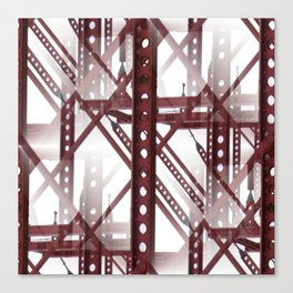 Red Steel Construction Canvas Print