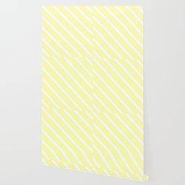 Vanilla Diagonal Stripes Wallpaper