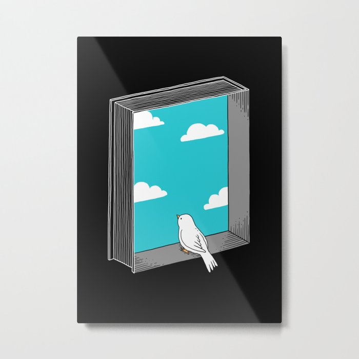 Every book a window Metal Print