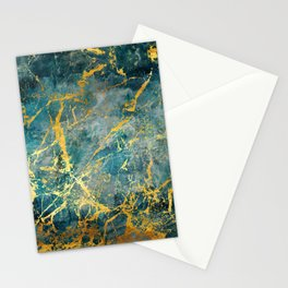 Electric Gold Stationery Cards