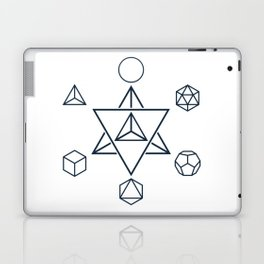 Merkaba and the Platonic Solids, Sacred Geometry Laptop & iPad Skin