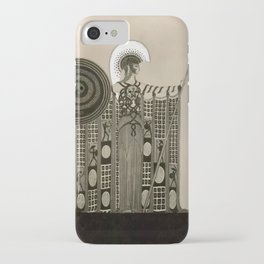"Art Deco Sepia Illustration ""Athena"" iPhone Case"