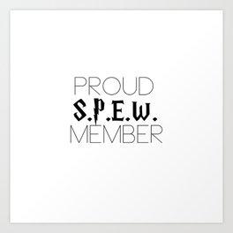 proud s.p.e.w. member // white Art Print