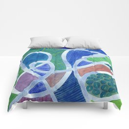 Curved Paths Comforters