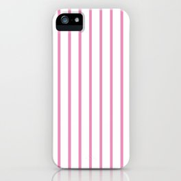 Vertical Hot Pink Stripes Pattern iPhone Case
