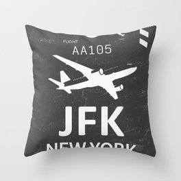 JFK Airport code New York USA Throw Pillow