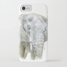 Elephant Watercolor Painting - African Animal iPhone 7 Slim Case
