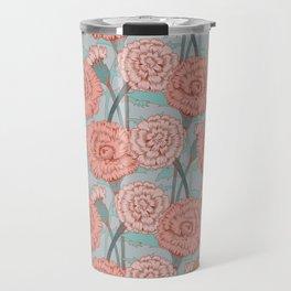 Pink and Blush Floral Pattern Travel Mug