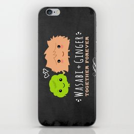 Wasabi and Ginger Together Forever iPhone Skin