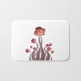 Floral Octopus Tentacles with Roses Bath Mat