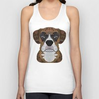boxer Tank Tops featuring Boxer by ArtLovePassion