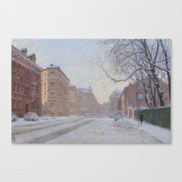 FROZEN CITY Canvas Print