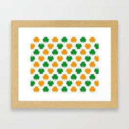 Irish Shamrocks Framed Art Print