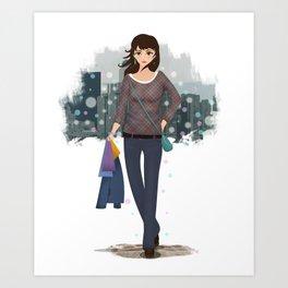 Going downtown #4 Art Print