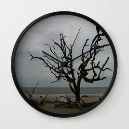 Ghost Tree Beach Wall Clock