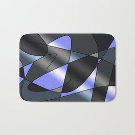 ABSTRACT CURVES #2 (Grays & Light Blue) Bath Mat