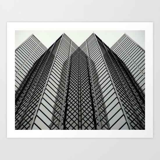 Linear Mirrors Art Print