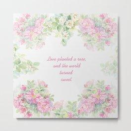 Love planted a rose Metal Print
