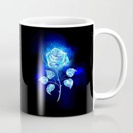 Burning Blue Rose Coffee Mug