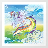 mlp Art Prints featuring Rainbow Dash - MLP by mmishee