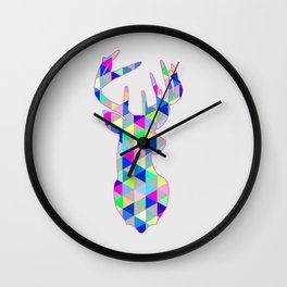 Dear me you are colorful Wall Clock
