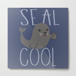 Seal cool Metal Print