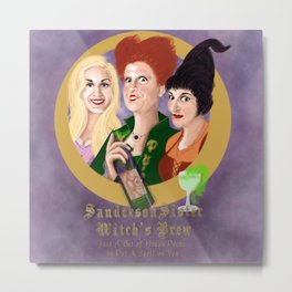 Sanderson Sister Witch's Brew Metal Print