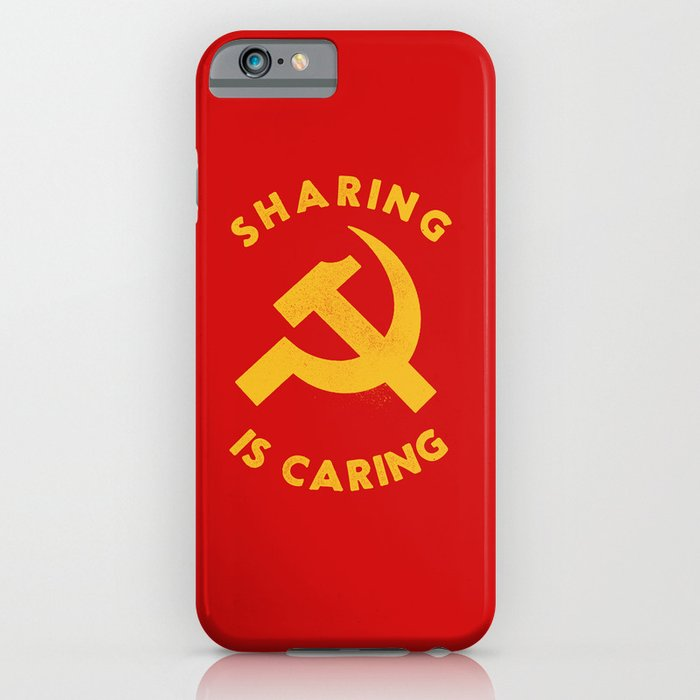 sharing is caring iphone case