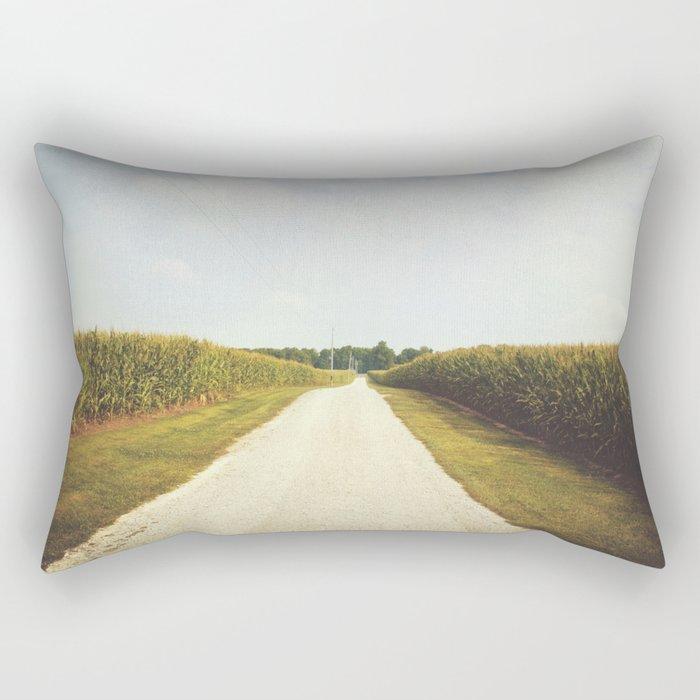 Indiana Corn Field Summers Rectangular Pillow